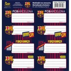 Samolepiace štítky na zošity 8ks FC BARCELONA, FC-201