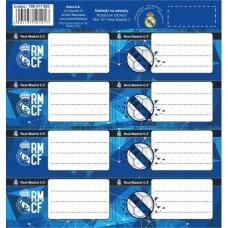 Samolepiace štítky na zošity 8ks REAL MADRID, RM-107