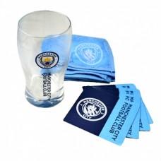 Sklenený pohár / minibar set MANCHESTER CITY (7653)