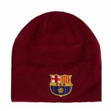 Štýlová zimná úpletová čiapka FC BARCELONA Burgundy