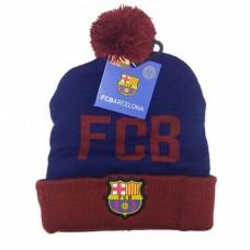 Úpletová čiapka 54cm FC BARCELONA Modrá