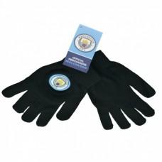 Úpletové rukavice MANCHESTER CITY Black