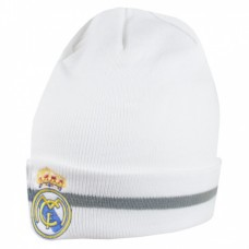 Zimná úpletová čiapka REAL MADRID White (0426)